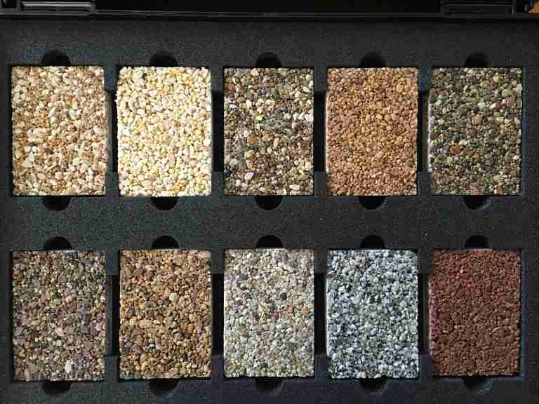 Selection of samples
