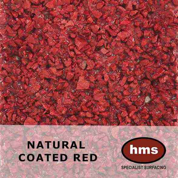 Natural Coated Red - Resin Bonded Sample