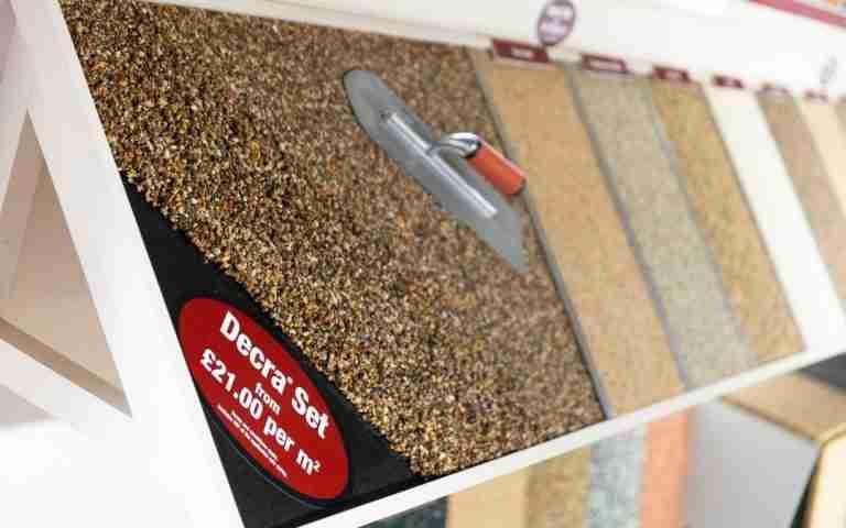 Resin samples at HMS showroom