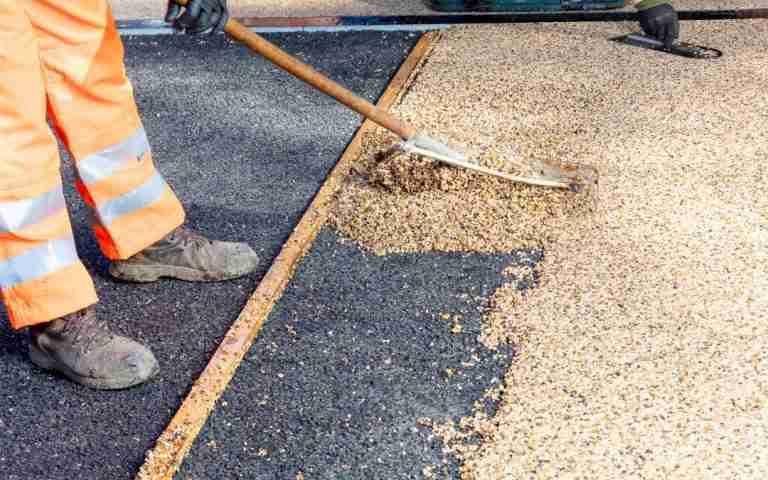 Decra Set bound paving being applied