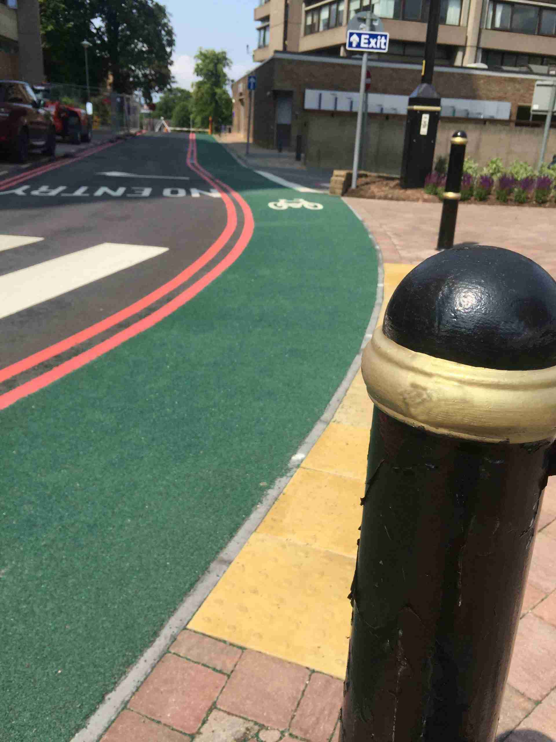 Green cycle route at Leicester University