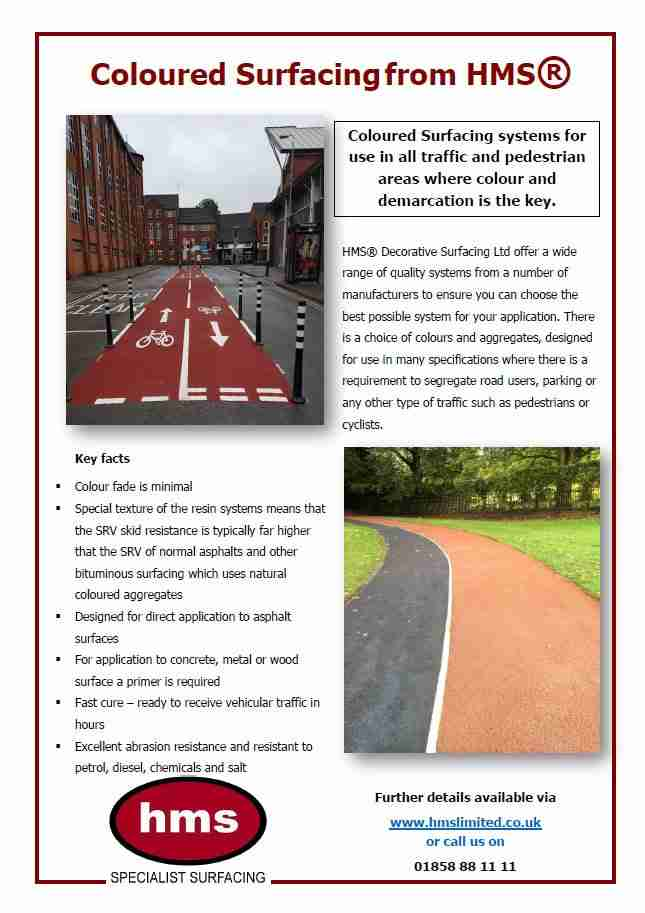 Coloured Surfacing Factsheet