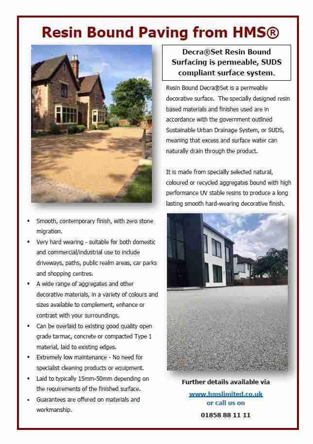 Resin Bound Paving Factsheet