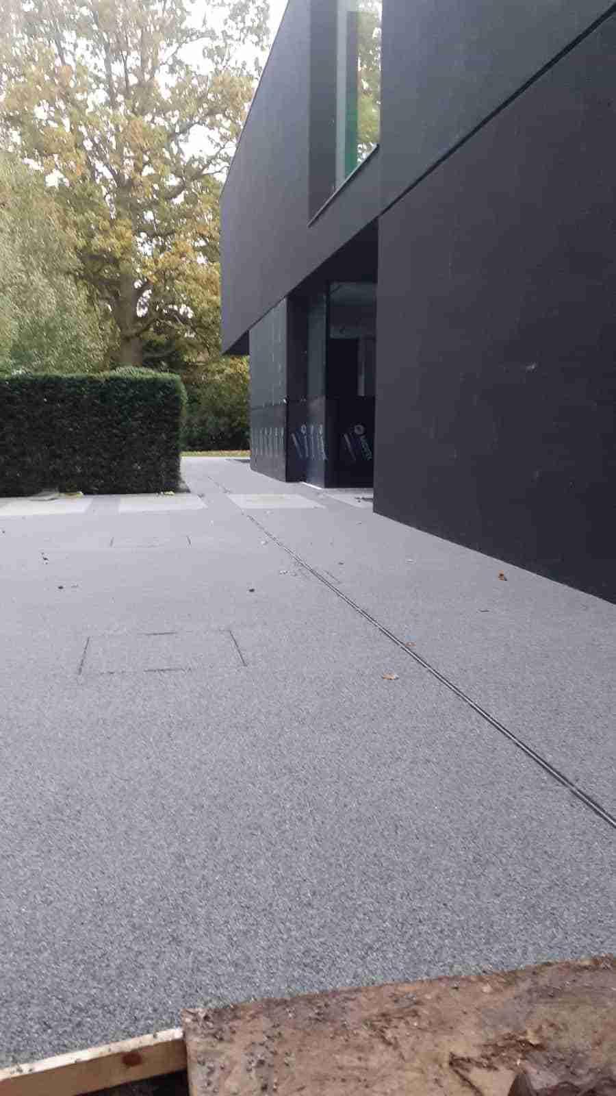 Decra Set Resin Bound surface in Steel Grey Winterhouse