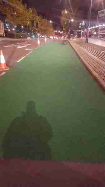High Friction Coloured Surfacing for Moor Street Queensway